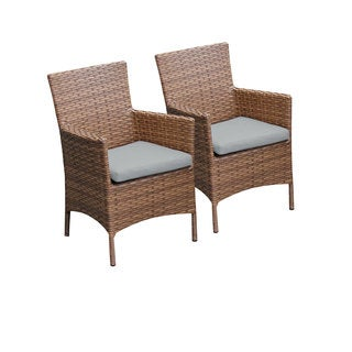 Outdoor Home Bayou Wicker Dining Chairs (Set of 2)