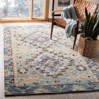 Safavieh Aspen Southwestern Geometric Hand-Tufted Wool Blue/ Beige Area Rug - 8' x 10'