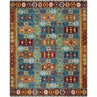 Safavieh Aspen Southwestern Geometric Hand-Tufted Wool Blue/ Red Area Rug - 8' x 10'
