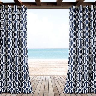 Lush Decor Edward Trellis Outdoor Curtain Panel Pair