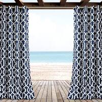 Lush Decor Edward Trellis Outdoor Curtain Panel Pair - 52x84