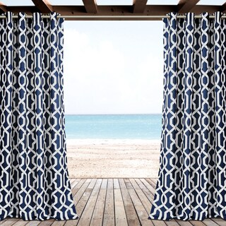 Lush Decor Edward Trellis Outdoor Curtain Panel Pair