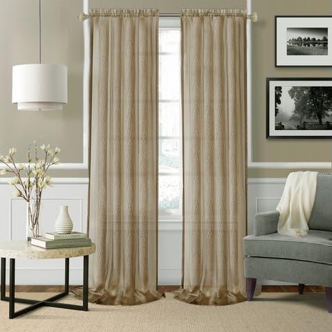 Enza Sheer Window Set of 2 Curtain Pair