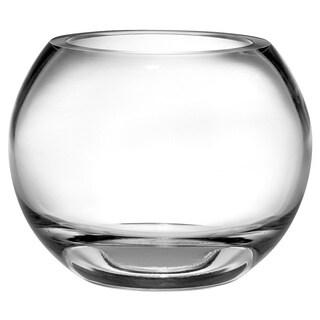 Fine European High Quality Mouth Blown Glass Rose Bowl