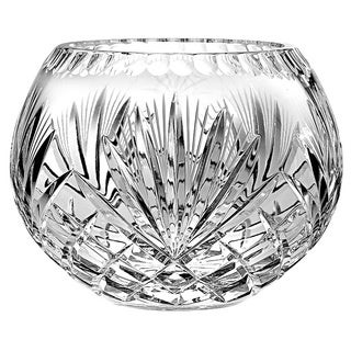 Majestic Gifts Inc. Hand Cut and Mouth Blown Crystal Rose Bowl