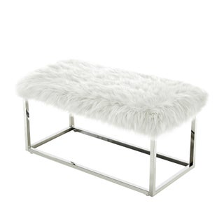 Degas Faux Fur and Metal Frame Ottoman Bench (4 options available)