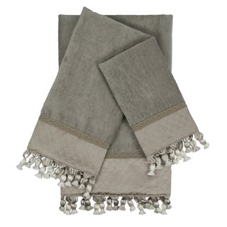 Sherry Kline Rochdale Grey 3-piece Embellished Towel Set