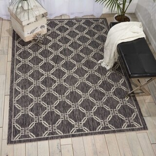 Nourison Garden Party Charcoal Indoor/Outdoor Area Rug - 7'10 x 10'6