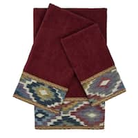 Sherry Kline Maricopa Red 3-piece Embellished Towel Set