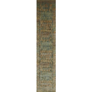 Genova Green/ Rust Rug (2'6 x 8')