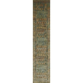 "Genova Green/ Rust Rug - 2'6"" x12'"