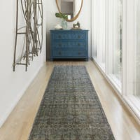 "Genova Grey/ Blue Runner Rug - 2'6"" x 10'"