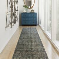 "Genova Grey/ Blue Rug - 2'6"" x 12'"