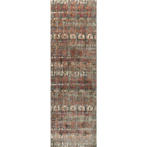 "Alexander Home Genova Bohemian Abstract Rug - 2'6"" x 8' Runner"