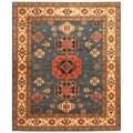 Herat Oriental Afghan Hand-knotted Tribal Kazak Wool Rug (8'1 x 9'9)