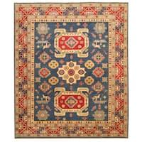 Herat Oriental Afghan Hand-knotted Tribal Kazak Wool Rug (8' x 9'10) - 8' x 9'10