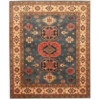 Handmade Herat Oriental Afghan Tribal Kazak Wool Rug  - 8' x 9'8 (Afghanistan)