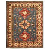 Herat Oriental Afghan Hand-knotted Tribal Kazak Wool Rug (8'1 x 10'3) - 8'1 x 10'3