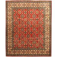 Herat Oriental Afghan Hand-knotted Tribal Kazak Wool Rug (8'1 x 9'10) - 8'1 x 9'10