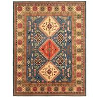 Handmade Herat Oriental Afghan Tribal Kazak Wool Rug  - 8' x 10'3 (Afghanistan)