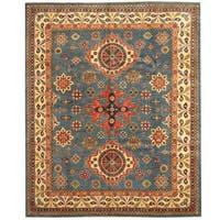Herat Oriental Afghan Hand-knotted Tribal Kazak Wool Rug (8'2 x 9'10) - 8'2 x 9'10