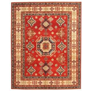 Herat Oriental Afghan Hand-knotted Tribal Kazak Wool Rug (8'2 x 10'2)