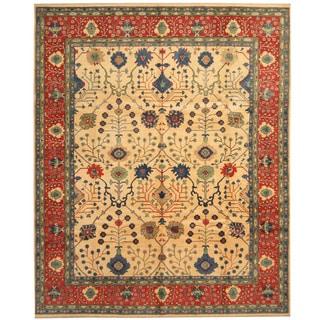 Herat Oriental Afghan Hand-knotted Tribal Kazak Wool Rug (8'1 x 9'10)