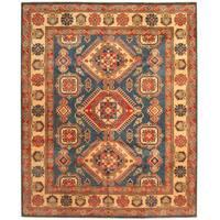 Handmade Herat Oriental Afghan Tribal Kazak Wool Rug (Afghanistan) - 8'3 x 10'