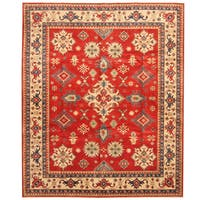 Handmade Herat Oriental Afghan Tribal Kazak Wool Rug  - 7'10 x 9'5 (Afghanistan)