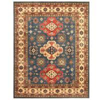 Handmade Herat Oriental Afghan Tribal Kazak Wool Rug  - 8' x 9'11 (Afghanistan)