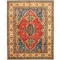Herat Oriental Afghan Hand-knotted Tribal Kazak Wool Rug (8'1 x 10'2)