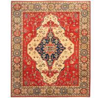 Herat Oriental Afghan Hand-knotted Tribal Kazak Wool Rug (8'3 x 9'11)