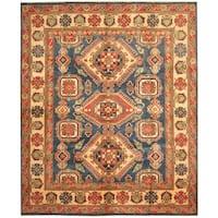 Herat Oriental Afghan Hand-knotted Tribal Kazak Wool Rug (8' x 9'8) - 8' x 9'8