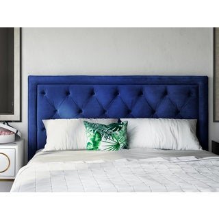 Nacht Navy Velvet Headboard (4 options available)