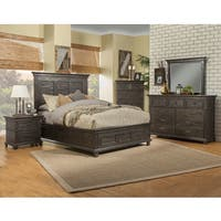 Austin Barn Door Panel Bed In Rustic Gray Free Shipping
