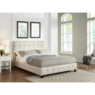 Alexis Cream Upholstered Blind Tufted Bed