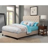 Alpine Chloe Tufted Upholstered Bed