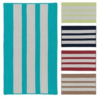 Coastal Breeze Multicolor Indoor/Outdoor Braided Reversible Rug USA MADE