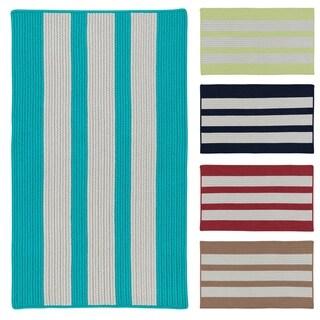 Coastal Breeze Multicolor Indoor/Outdoor Braided Reversible Rug USA MADE - 5' x 8'