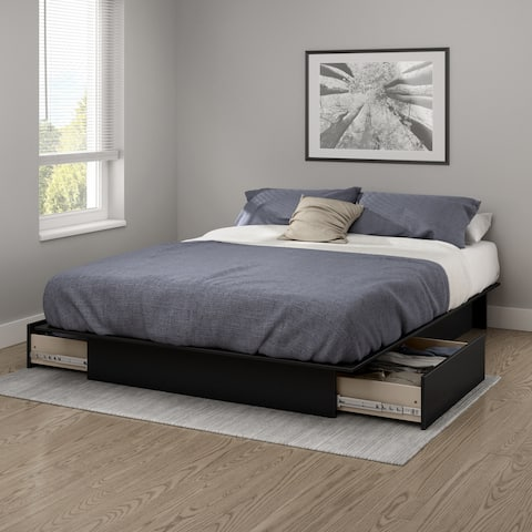 South Shore Gramercy Full/ Queen Platform Bed with 2 Drawers
