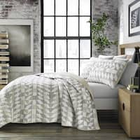 City Scene Piper Grey Quilt Set