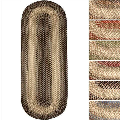 Ellsworth Indoor / Outdoor Reversible Braided Runner Rug by Rhody Rug (2' x 6')