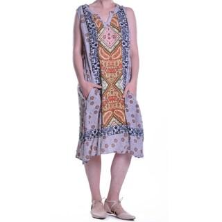 La Cera Women's Sleeveless Ruffle Dress