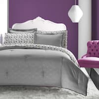 Betsey Johnson Grey Skull Trellis 7-piece Bed in a Bag Set