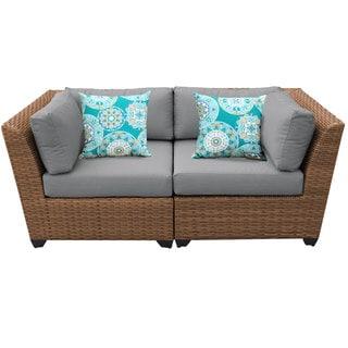 Outdoor Home Bayou 2-piece Outdoor Patio Wicker Lounge Set