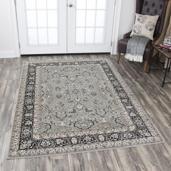 Shop Rizzy Home Zenith Grey Motif Area Rug (7'10 X 10'10