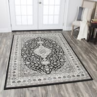Rizzy Home Zenith Black Central Medallion Area Rug - 7'10 x 10'10