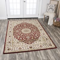 """Zenith Traditional Medallion Red Area Rug (7'10 x 10'10) - 7'10"""" x 10'10"""""""
