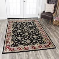 """Rizzy Home Zenith Red Medallion Area Rug (7'10 x 10'10) - 7'10"""" x 10'10"""""""