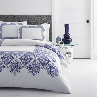 Azalea Skye Cora Blue Duvet Cover Set
